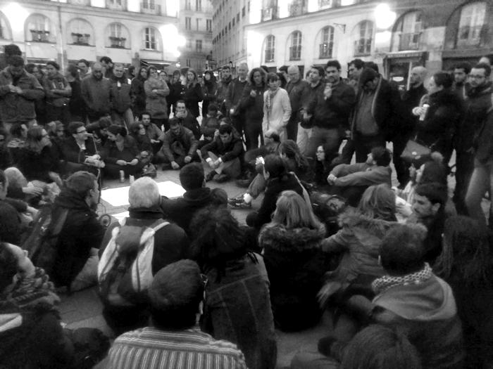 Nuit Debout Place du Bouffay à Nantes